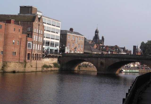 The Ouse at Ouse Bridge, York