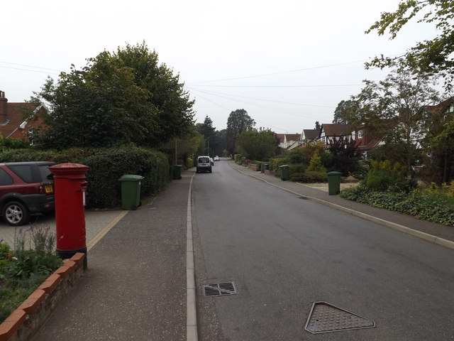 Intwood Road & Cringleford Post Office Postbox