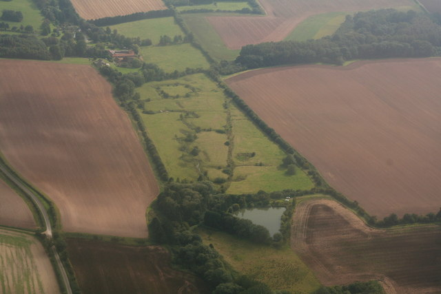 Moated site at Tathwell: aerial 2014