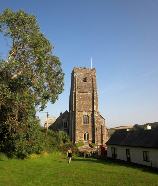 Stokenham church from the green