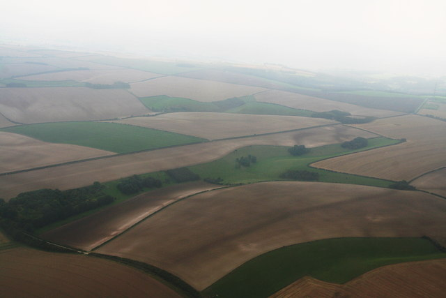 Valley near North Farm, Withcall: aerial 2014