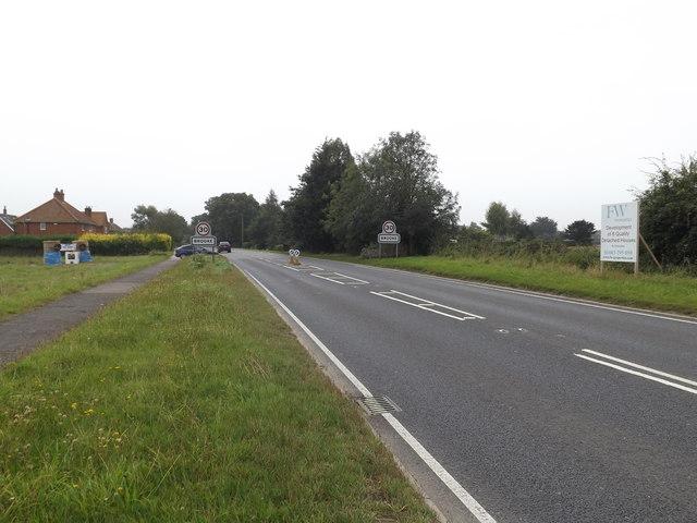 Entering Brooke on the B1332 Norwich Road