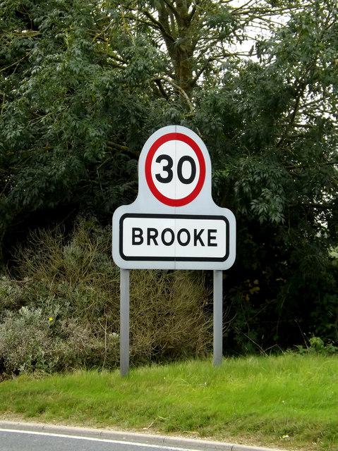 Brooke Village Name sign