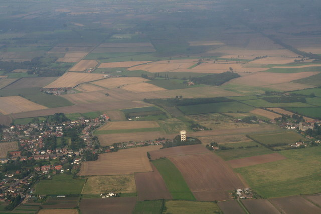 Haxey Water Tower from the South: aerial 2014
