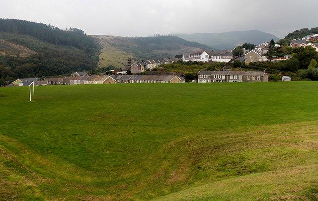 Football pitch in Pontycymer
