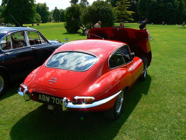E Type Jaguar coupe, Lydiard House, Lydiard Tregoze