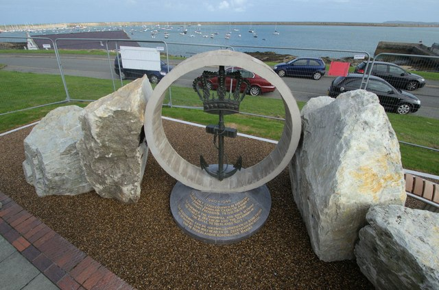 New memorial at Beach Road, Holyhead