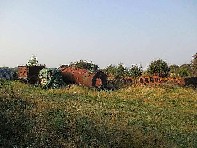Ruddington: rusting railway relics