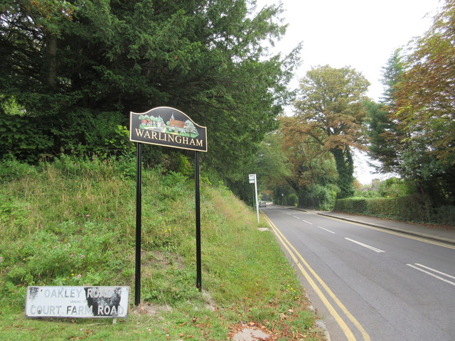 Warlingham Village Sign on Westhall Road