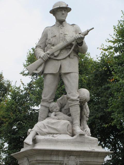 Close-up of the War Memorial in Warlingham