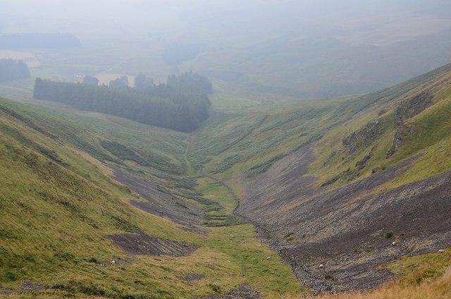 Valley below Skirtle Craig