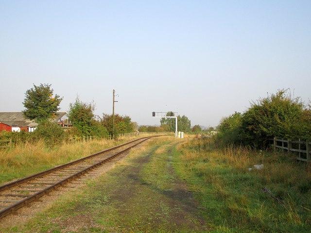 Ruddington: preserved railway north of Asher Lane