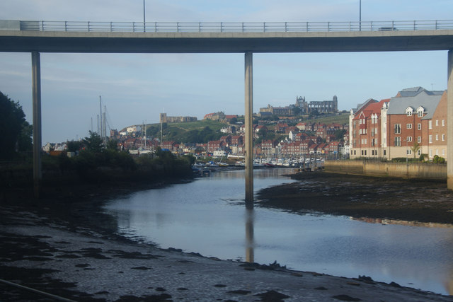 Approaching Whitby by rail