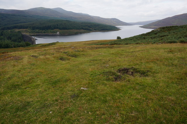 View from the track to Loch Con