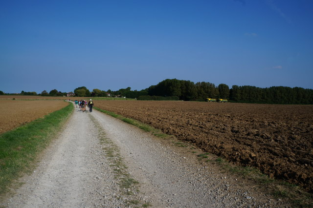 Farm track leading to Ludborough