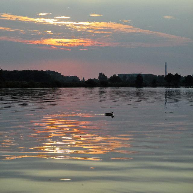 Adbolton: evening reflections