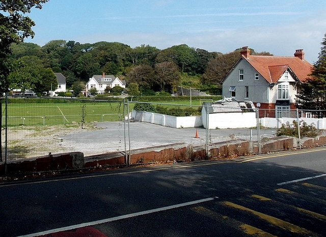 Fenced-off Langland Road site in Swansea