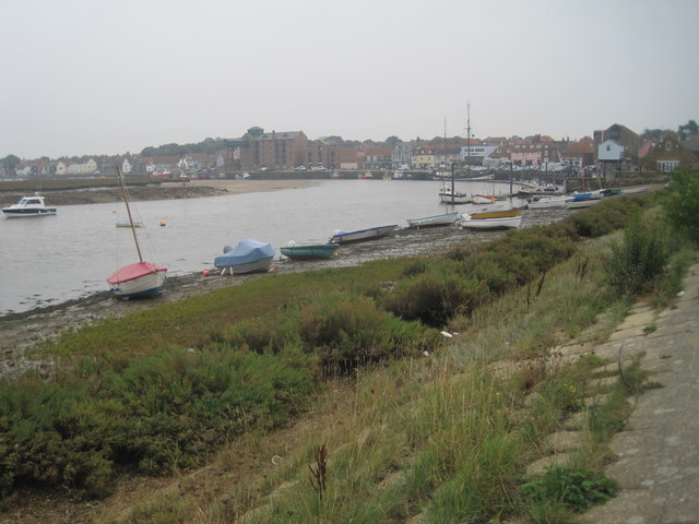Wells-next-the-Sea from the estuary
