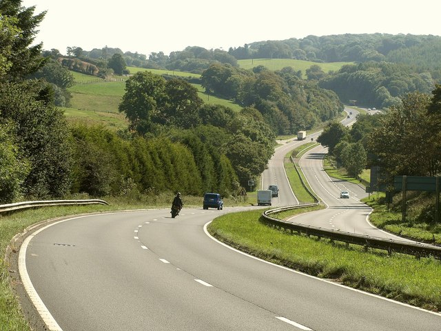 A38 crossing the Seaton valley