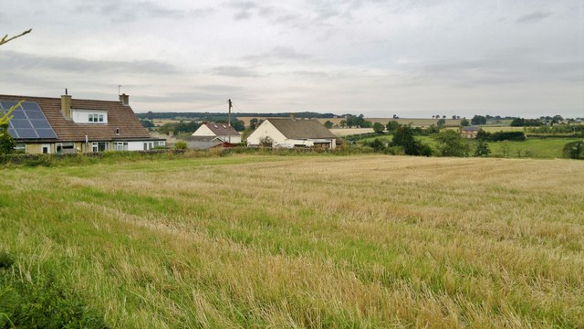 View from footpath out of Springfield, Skeeby,  looking towards Scotch Corner