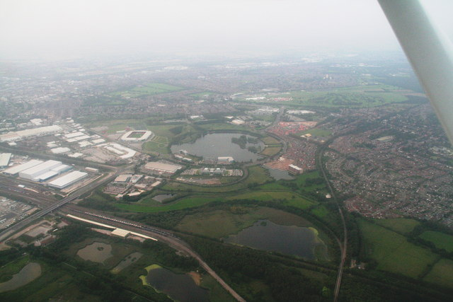 Site of the historic Doncaster Airfield: aerial 2014