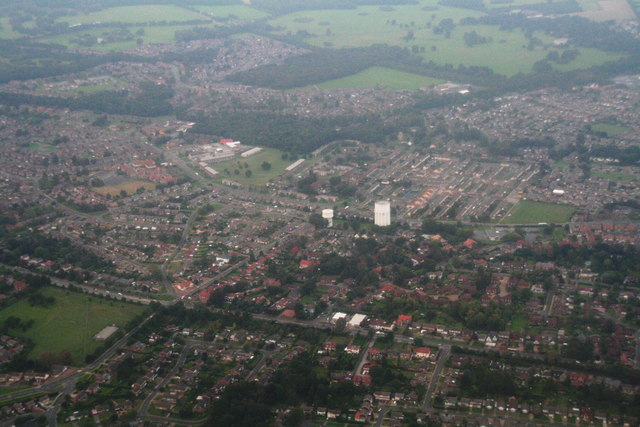 Bessacarr and water towers: aerial 2014