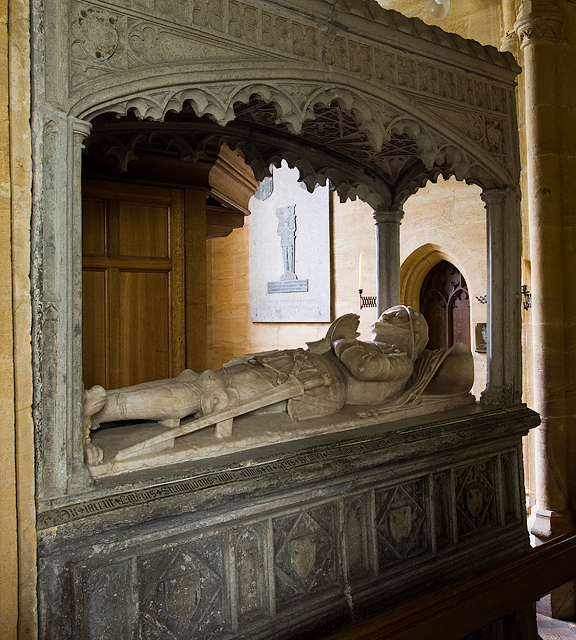 Heritage Open Day at Melbury House (6) - St Mary's Chapel, tomb of William Brouning
