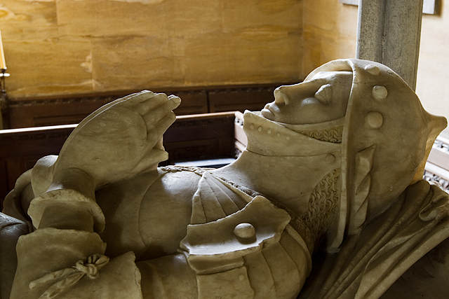 Heritage Open Day at Melbury House (7) - St Mary's Chapel, tomb of William Brouning (detail)