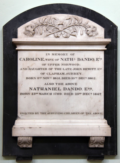 All Saints, Upper Norwood - Wall monument