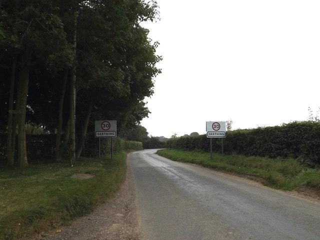 Entering Seething on Brooke Road