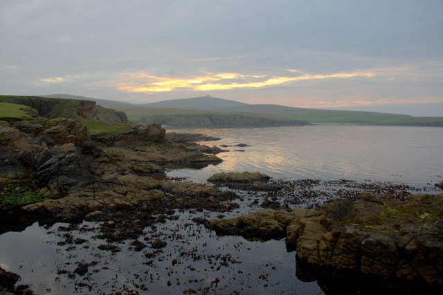 Sunset on the north side of Lamba Ness