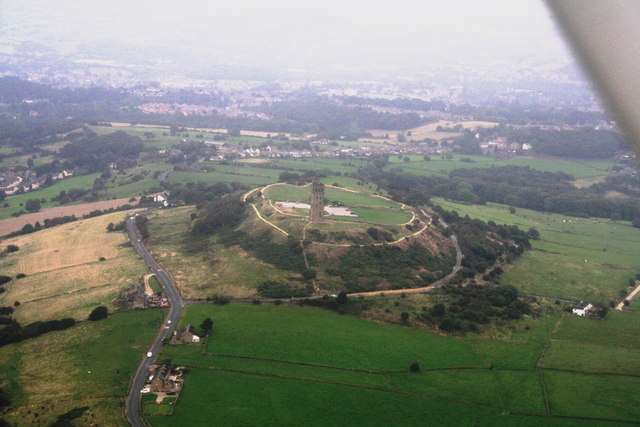 Castle Hill and Victoria Tower: aerial 2014