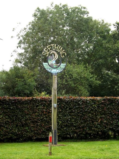 Seething Village sign