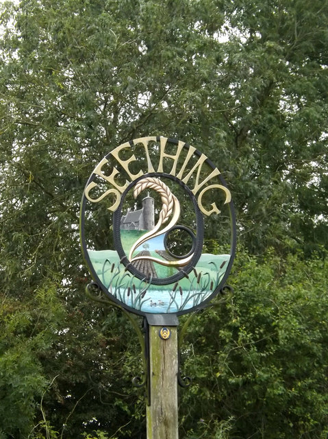 Seething Village sign