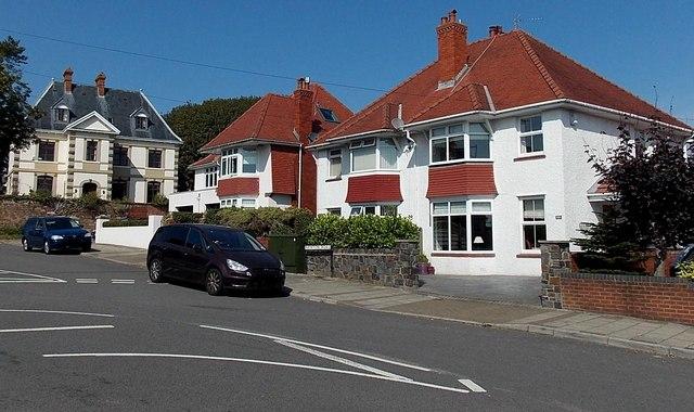 Highpool Lane houses, Newton, Swansea