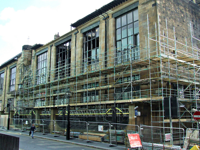 Glasgow School of Art - after the fire
