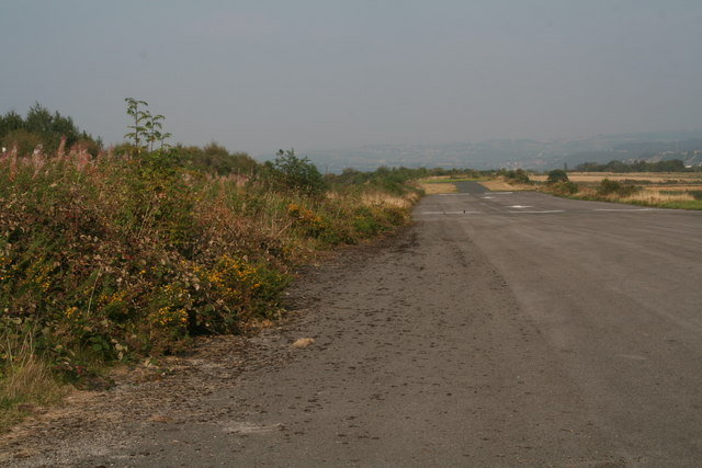 Threshold of Runway 25, Crosland Moor Airfield, Huddersfield
