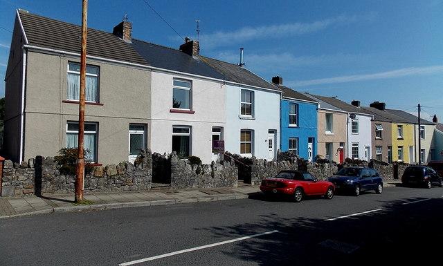 Row of houses, Newton Road, Newton, Swansea