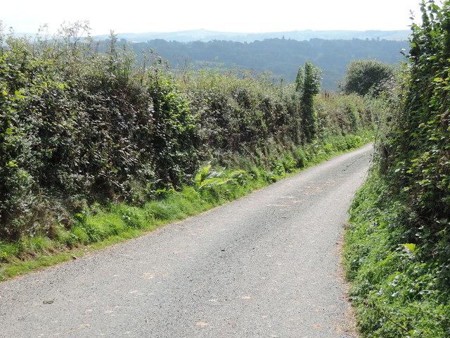Lane below Fire Stone Cross