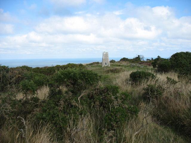 The summit of Mynydd Eilian