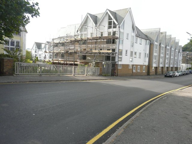 Scaffolding on houses in Beaconsfield Road