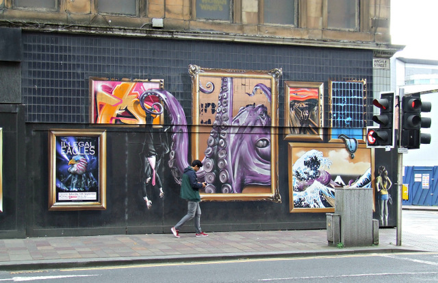 Graffiti style mural on Argyle Street