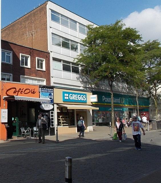 Four Oxford Street shops in Swansea