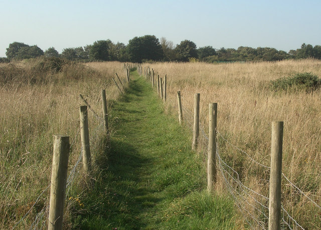 Public footpath from the Grove Golf Club to Moor Lane near Nottage