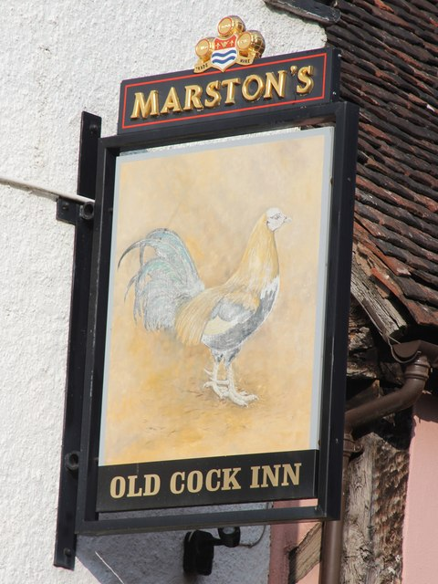 Old Cock Inn sign