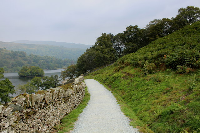 Bridleway leading down to Rydal Water