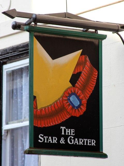 The Star & Garter sign