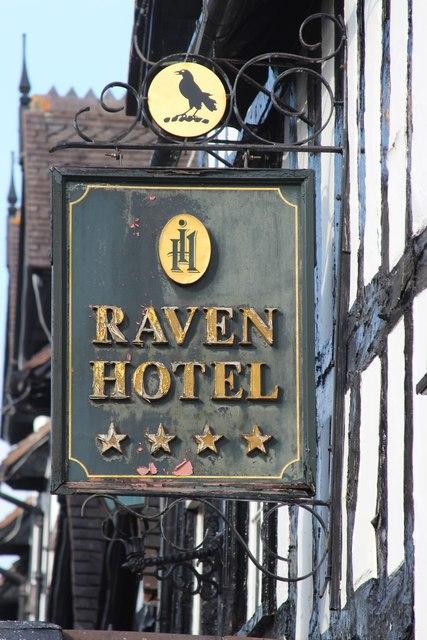 Raven Hotel sign