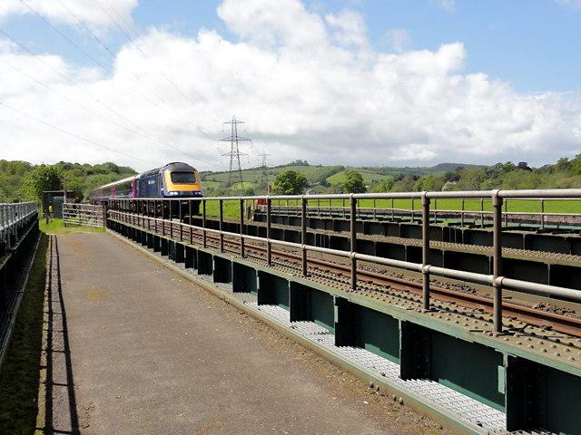 On Stafford Bridge: Train Approaching