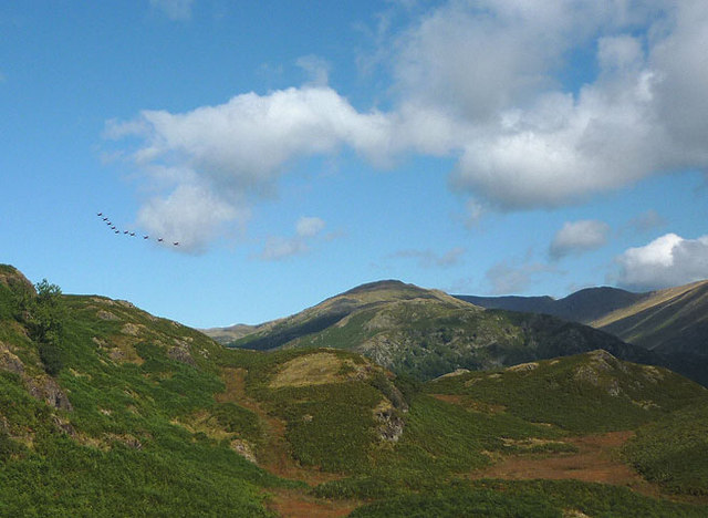 The Red Arrows over Loughrigg Fell